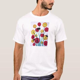 Camiseta Sommerfugler do MED do blomster de Nappen