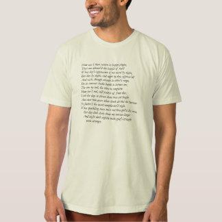 Camiseta Soneto # 28 por William Shakespeare