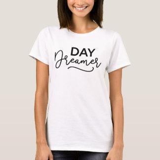 Camiseta Sonhador moderno do dia do roteiro
