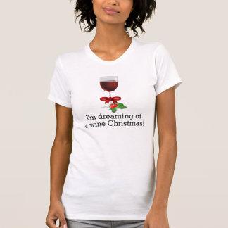 Camiseta Sonho de um design engraçado do feriado do Natal