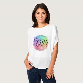 Camiseta Sonho do arco-íris da aguarela da galáxia do falso