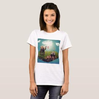 Camiseta Sonho do elefante & do girafa