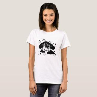Camiseta Sonho grande com nuvem e estrela