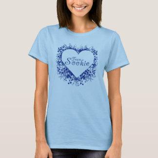 Camiseta sookie da equipe (coração azul)