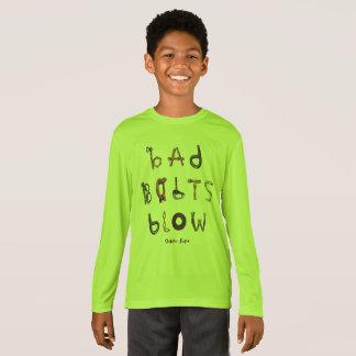 Camiseta Sopro mau dos parafusos - a luva longa atlética do