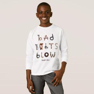 Camiseta Sopro mau dos parafusos - a luva longa T do miúdo
