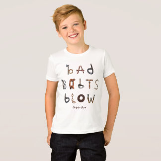 Camiseta Sopro mau dos parafusos - o jérsei fino do miúdo