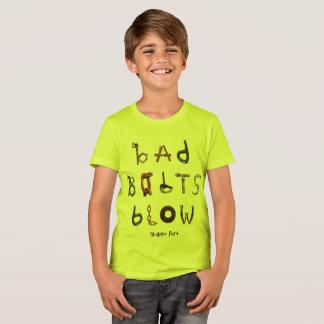 Camiseta Sopro mau dos parafusos - pescoço de grupo T das