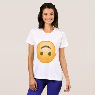 Camiseta Sorriso de cabeça para baixo Emoji