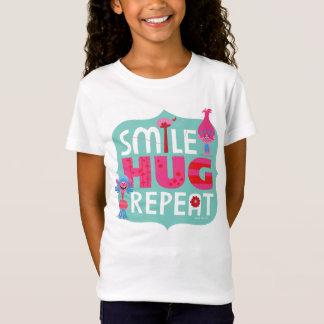 Camiseta Sorriso dos troll |, abraço, repetição