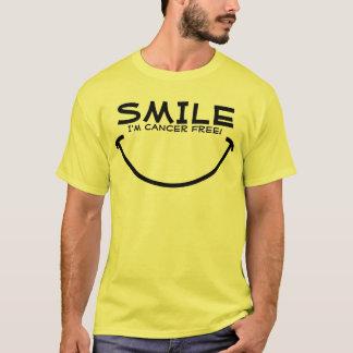 Camiseta Sorriso, eu sou cancer livre!