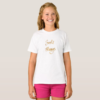 Camiseta Sorriso sempre (parte superior do slogan das