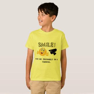 Camiseta Sorriso! Você está provavelmente em um t-shirt da