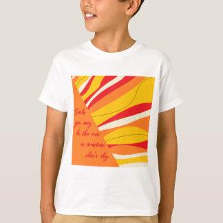 Camiseta sorriso você pode ser o sol em alguém céu dos