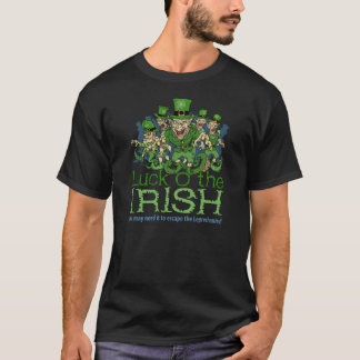 Camiseta Sorte dos Leprechauns irlandeses do Dia de São