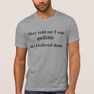 Camiseta Sou eu crédulo?