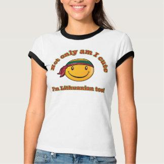 Camiseta Sou não somente eu bonito mim sou lituano
