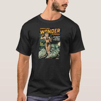 Camiseta Spacegirl luta monstro do limo
