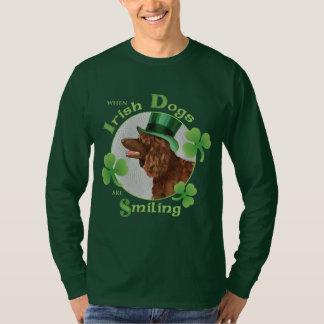 Camiseta Spaniel de água irlandesa do dia de St Patrick