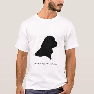 Camiseta Spaniel de rei Charles descuidado - silhueta preta