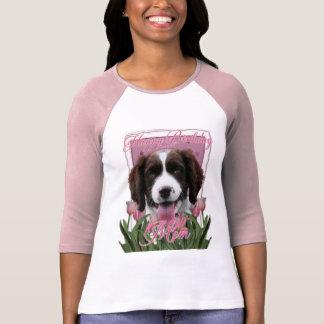 Camiseta Spaniel de Springer inglês Baxter da mamã do feliz