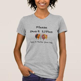 Camiseta Spay & neutralize seus animais de estimação