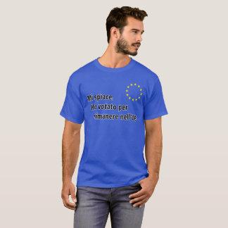 Camiseta Spiace italiano do MI. Ho votato por o nell'UE do