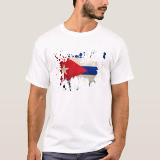 Camiseta splatter Cuba