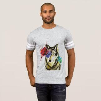 Camiseta Splatter do lobo
