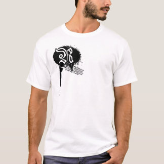 Camiseta Splatter do mundo da revolta branco