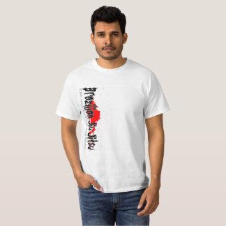 Camiseta Splatter do sangue de Jiu Jitsu do brasileiro