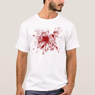 Camiseta Splatter do sangue do t-shirt
