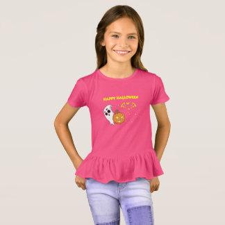 Camiseta Splatter feliz bonito da abóbora do fantasma do