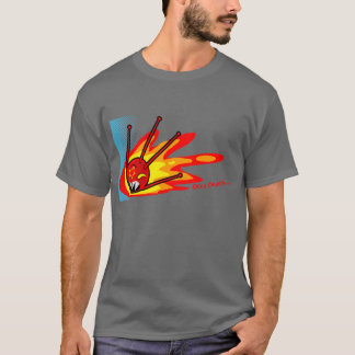 Camiseta sputnik no fogo