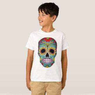 Camiseta Sr. Açúcar Crânio T-shirt dos miúdos TAGLESS