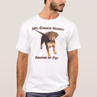 Camiseta Sr. Choco Escuteiro: Beware do filhote de cachorro