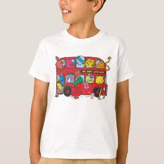 Camiseta Sr. Homem & Ônibus da senhorita Aglomeração