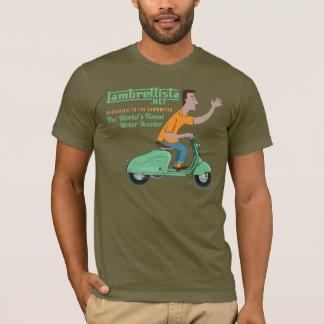 Camiseta Sr. Lambrettista Montada um Lambretta verde LD