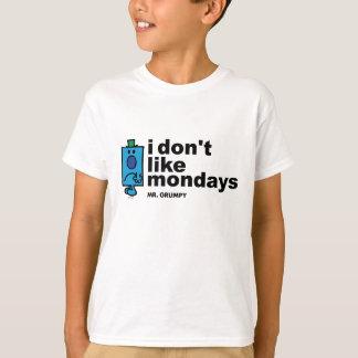 Camiseta Sr. Mal-humorado Fazer Não Como segunda-feira
