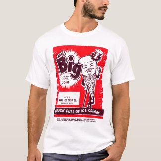 Camiseta Sr. retro Grande da novidade do sorvete do kitsch
