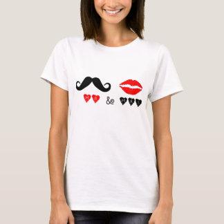 Camiseta Sr. & Sra. Lábios & presente de casamento do