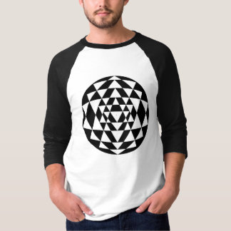 Camiseta sriyantra-esférico-linhas-n