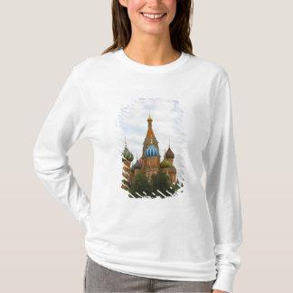 Camiseta St. A catedral da manjericão no quadrado vermelho,