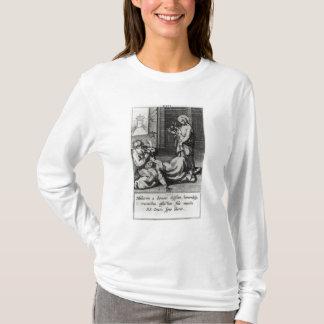 Camiseta St. Catherine que Exorcising um demónio de uma