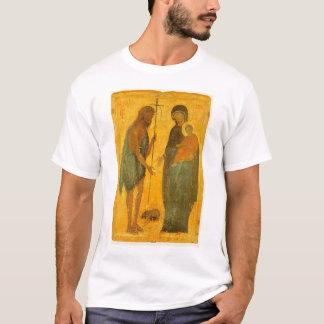 Camiseta St John o baptista e o Virgin e a criança
