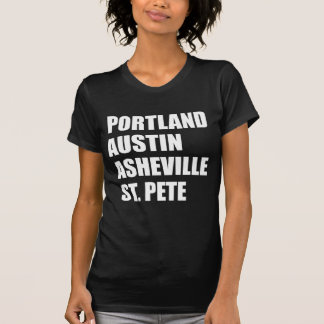 Camiseta St. Pete de Portland Austin Asheville - cidades da