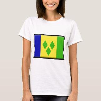 Camiseta St. Vincent e a bandeira dos Grenadines