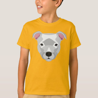 Camiseta Staffordshire branco bull terrier