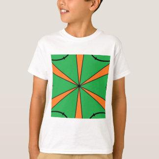 Camiseta starbursts alaranjados