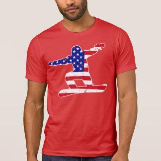 Camiseta Stars o SNOWBOARDER das listras do ` n' (branco)